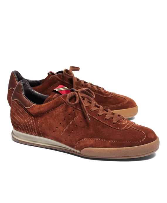 Pantofola D'Oro Suede Soccer Sneakers Brown