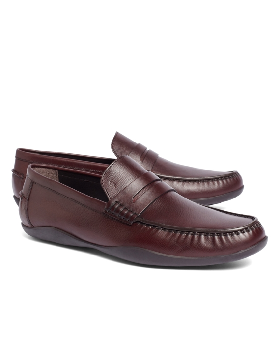 Harrys Of London® Basel Box Grain Loafers Burgundy