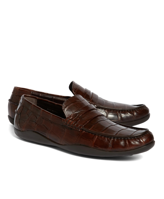 Harrys Of London® Basel Alligator Penny Loafers