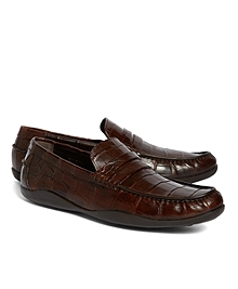 Harrys of London Basel Alligator Penny Loafers