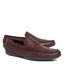 Harrys Of London® Basel Ostrich Penny Loafers