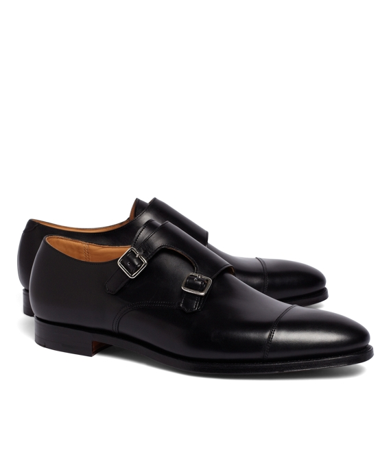 Peal & Co.® Double Monk Strap Shoes Black