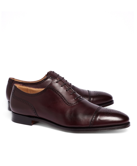 Peal & Co.® Medallion Perforated Captoes Burgundy