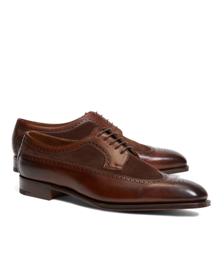 Edward Green Harrogate Suede and Leather Longwing Brogue