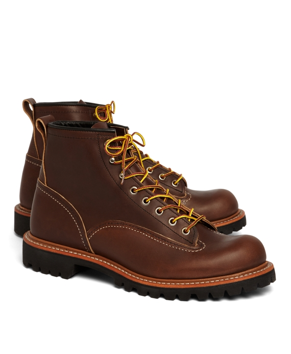 Red Wing for Brooks Brothers 2936 Lineman Boots Brown