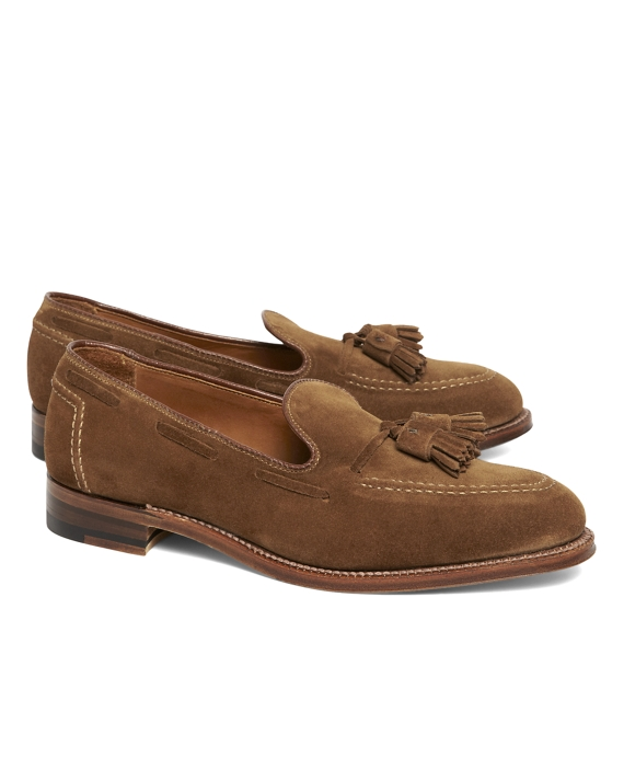 Suede Tassel Mocs Brown