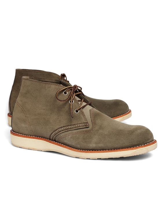 Red Wing 3144 Leather Desert Boots Green