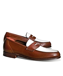 The Great Gatsby Collection White and Brown Spectator Loafer