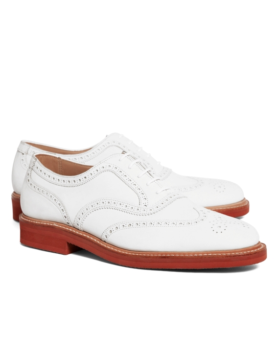 The Great Gatsby Collection White Buck Wingtips White