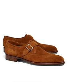 Edward Green Hove Suede Wingtip Monks