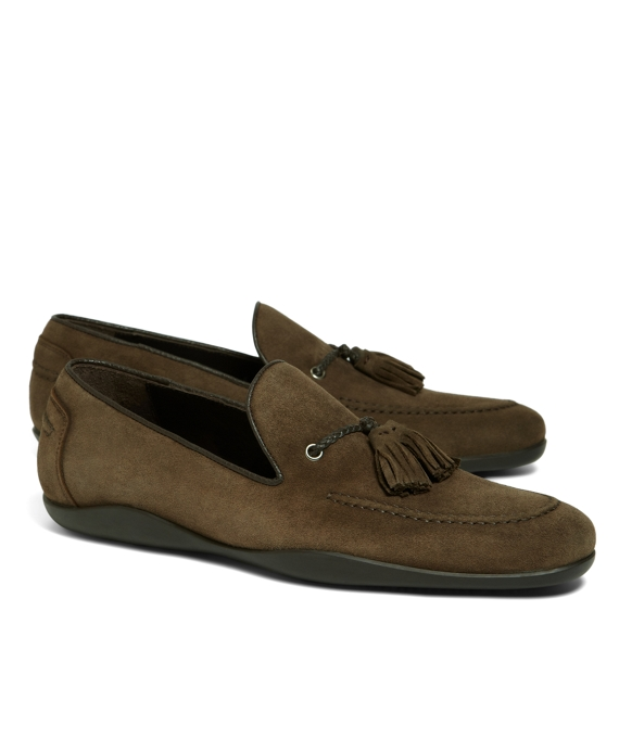 Harrys of London Dylan Kudu Tassel Mocs Olive