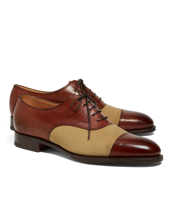 Edward Green Chelsea Leather and Canvas Captoes Brown