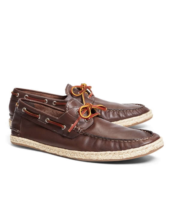 Espadrille Boat Shoes Brown