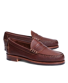Football Leather Penny Loafers