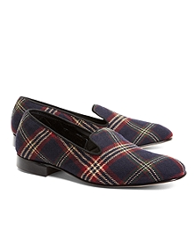 Signature Tartan Wool Slippers