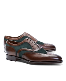 Edward Green Malvern III Suede and Leather Wingtips
