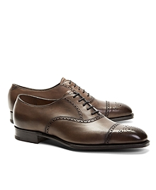 Edward Green Asquith Leather Medallion Perforated Captoes