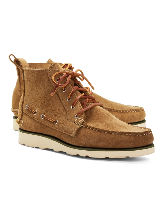Suede Boat Boots Tan
