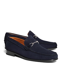 Suede Buckle Loafers