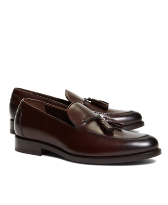 Harrys Of London® Satin Calfskin Shelly Tassel Loafers
