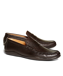 Harrys of London Scotch Grain Basel Leather Loafers