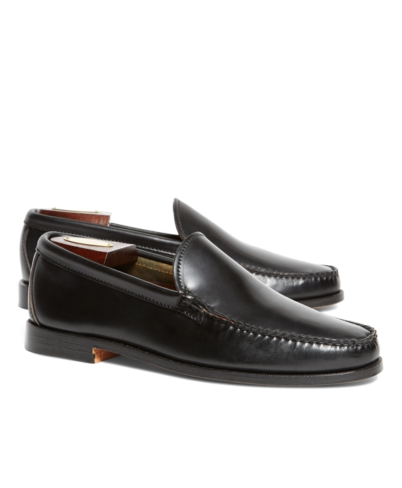 Rancourt & Co. Cordovan Venetian Loafers Black