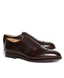 Peal & Co.® Pebble Leather Perforated Captoes
