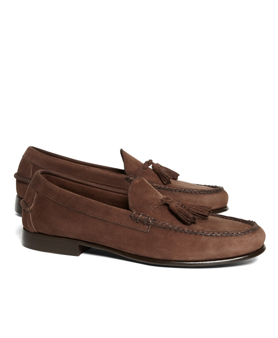 Unconstructed Tassel Loafers Brown