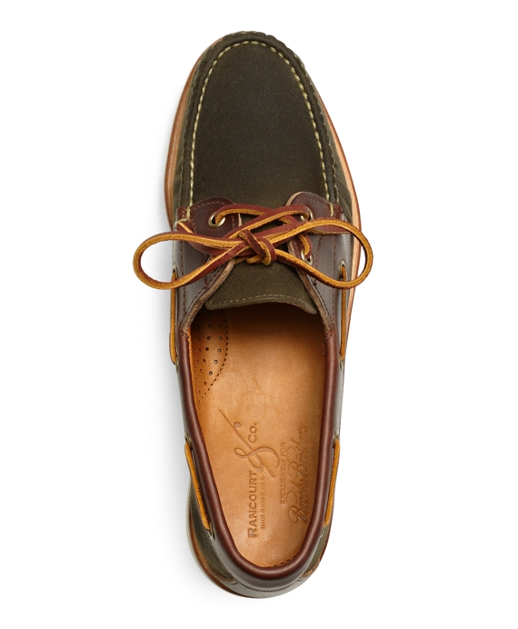 s rancourt and co waxed canvas boat shoes