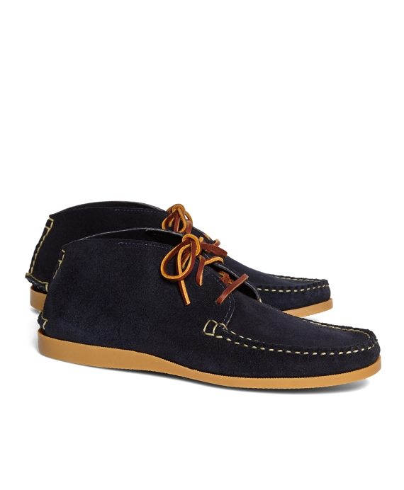 Rancourt & Co. Suede Short Chukkas Navy