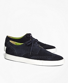 Suede Wingtip Sneakers