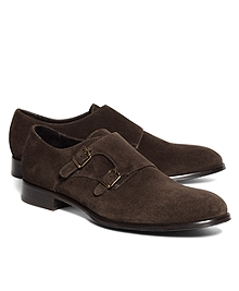 Suede Double Monk Strap Shoes