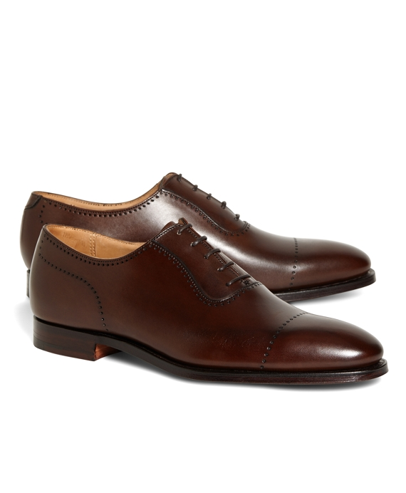 Peal & Co.® Perforated Captoes Brown