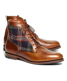 Leather and Signature Tartan Boots
