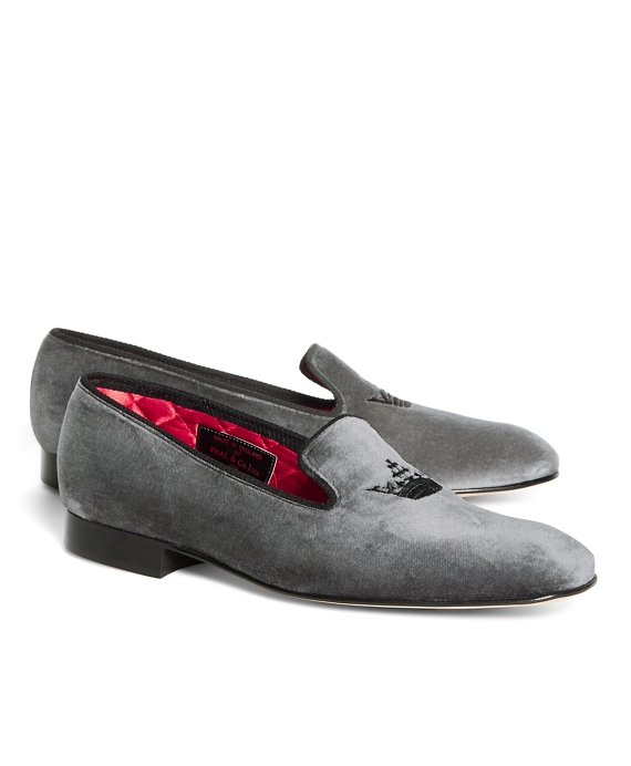 Peal & Co.® Crown Velvet Slippers