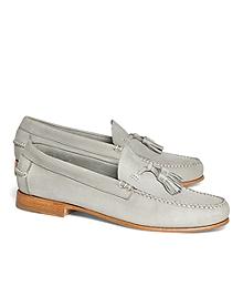 Nubuck Tassel Loafers