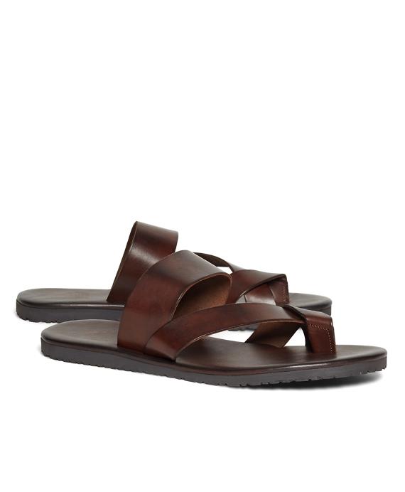 Leather Criss-Cross Sandal