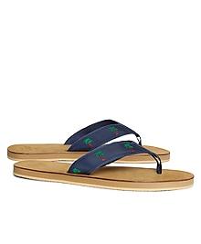 Palm Tree Flip-Flops