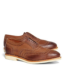 No-Lace Nubuck Wingtips