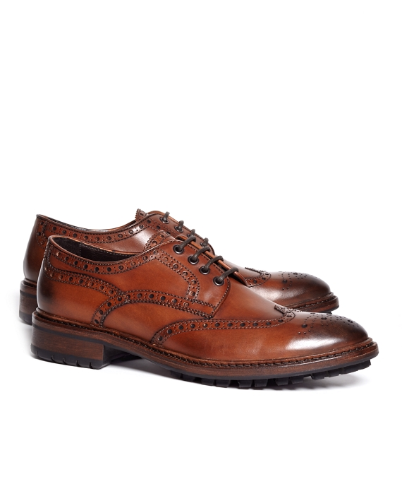 Wingtip Lug Sole Oxford Cognac