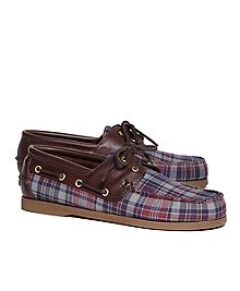 Fall Madras Boat Shoes