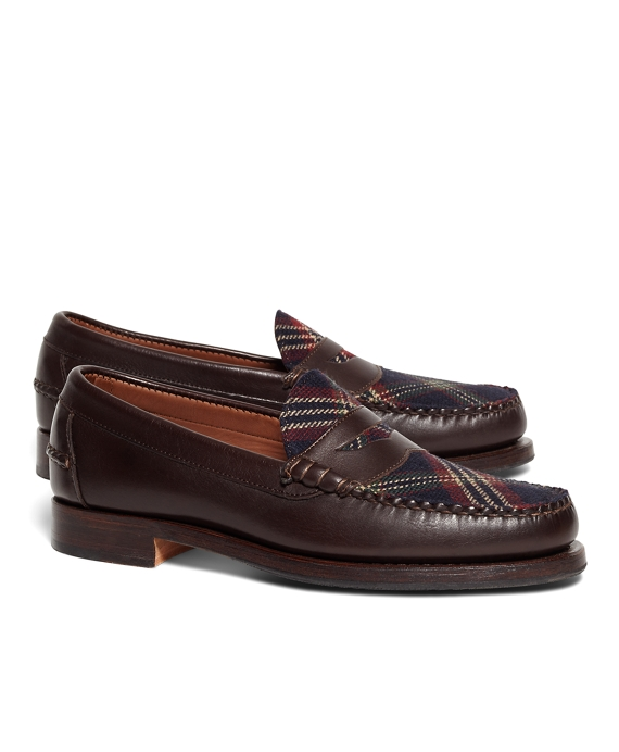Brooks Brothers Signature Tartan Penny Loafers