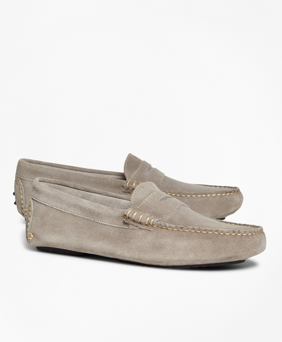 Suede Driving Mocs Grey