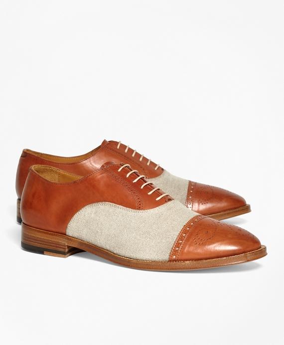 1930s Style Mens Shoes Medallion Captoes $214.00 AT vintagedancer.com