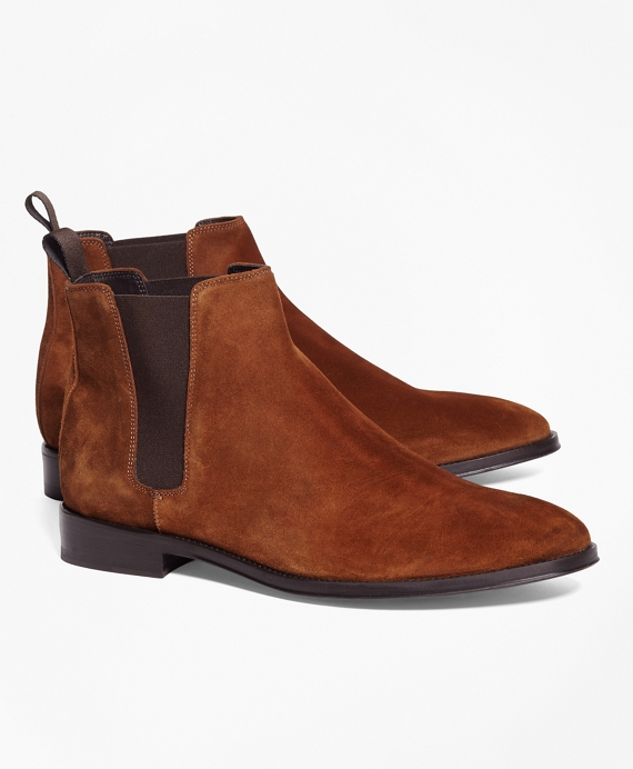 Suede Chelsea Boots Brown