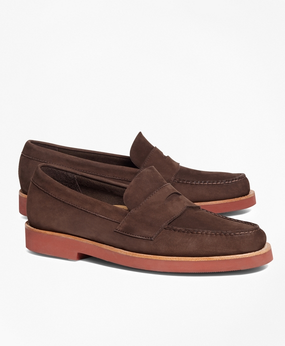 Nubuck Penny Loafers Brown