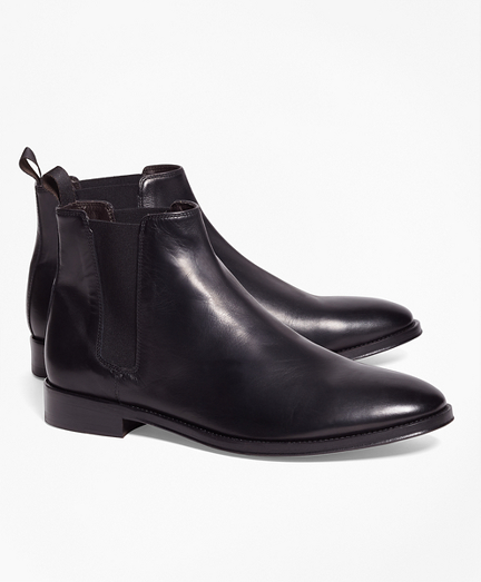 Brooks Brothers Black Leather Chelsea Boots