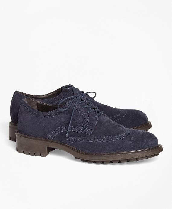 1818 Footwear Suede Wingtips Navy
