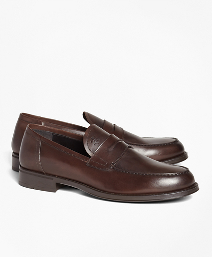 1818 Footwear Rubber-Sole Leather Penny Loafers