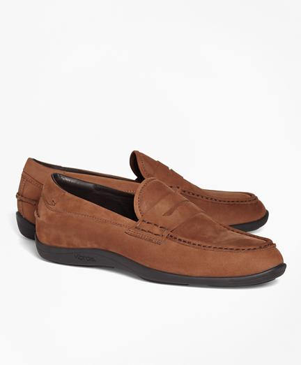1818 Footwear Suede Penny Moccasins